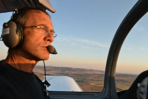 Co-owner of The Airplane Factory, Mike Blyth, discovered flight 30 years ago after failing as a businessperson in the trucking industry. He has since circumnavigated the world twice, flown two long distance flights on a microlight and has won the World Microlight Championships in 1992. (Image: Shamin Chibba)