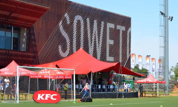 The Nike Football Training Centre in Soweto hosted the second day of the Beyond Sport Summit, which featured a number of workshops on issues ranging from HIV/Aids to youth development in cricket. (Image: Shamin Chibba)