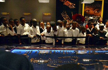 Schoolchildren were given the chance to view the remains of the homo naledi when it was kept at the Cradle of Humankind earlier this year.
