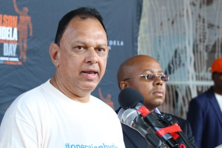 "The donations were ""ubuntu in action"", the initiative's co-ordinator, Yusuf Abramjee, said at a water drive at the Nelson Mandela Foundation. ""Real people are the ones donating,"" he said. ""We as civil society will continue to provide this basic human right."""