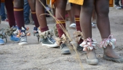 Girls from the StarLion Programme prepare for a traditional Shangaan ceremony that honours the white lions.